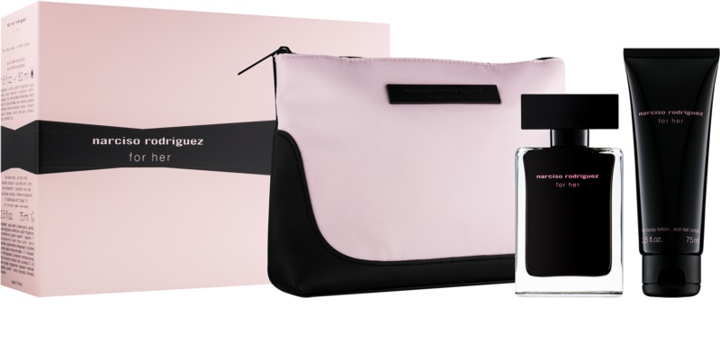 narciso rodriguez for her gift set xvi. Black Bedroom Furniture Sets. Home Design Ideas