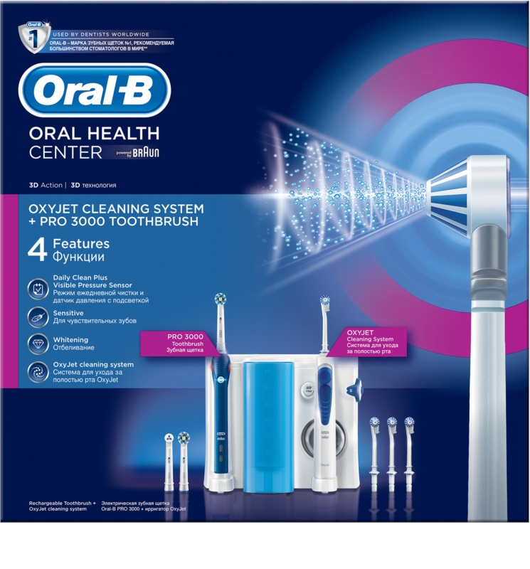 oral b oxyjet 3000 electric toothbrush and flosser in one. Black Bedroom Furniture Sets. Home Design Ideas