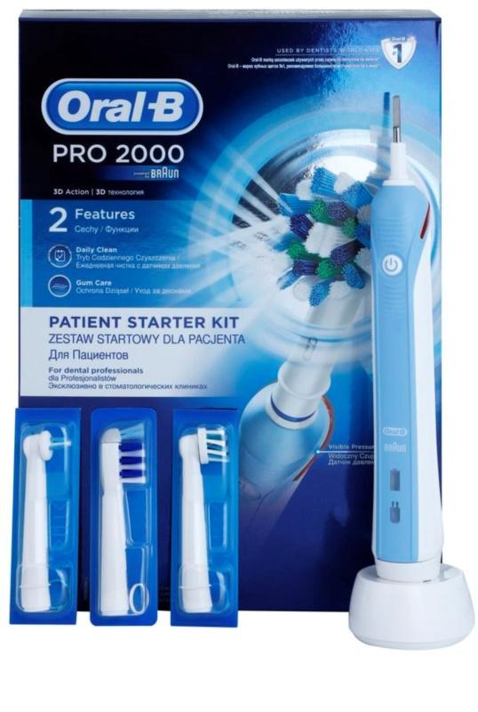Oral B Pro 2000 D20.543.2M Blue Box Professional cepillo de dientes  eléctrico ... 9436c29cf976