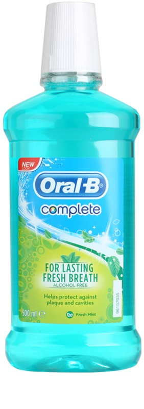 oral b complete bain de bouche anti plaque dentaire pour des gencives saines. Black Bedroom Furniture Sets. Home Design Ideas