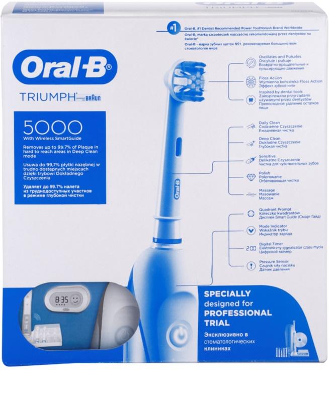 ... Oral B Triumph 5000 D34.575.5X електрична зубна щітка 2 ... a05b15b640710