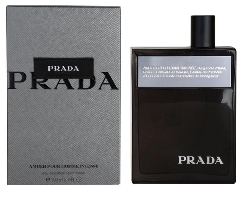 prada amber pour homme intense eau de parfum for men 100. Black Bedroom Furniture Sets. Home Design Ideas