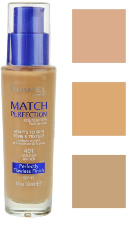 RIMMEL MATCH PERFECTION tekutý make-up SPF 15  0fdf7545970