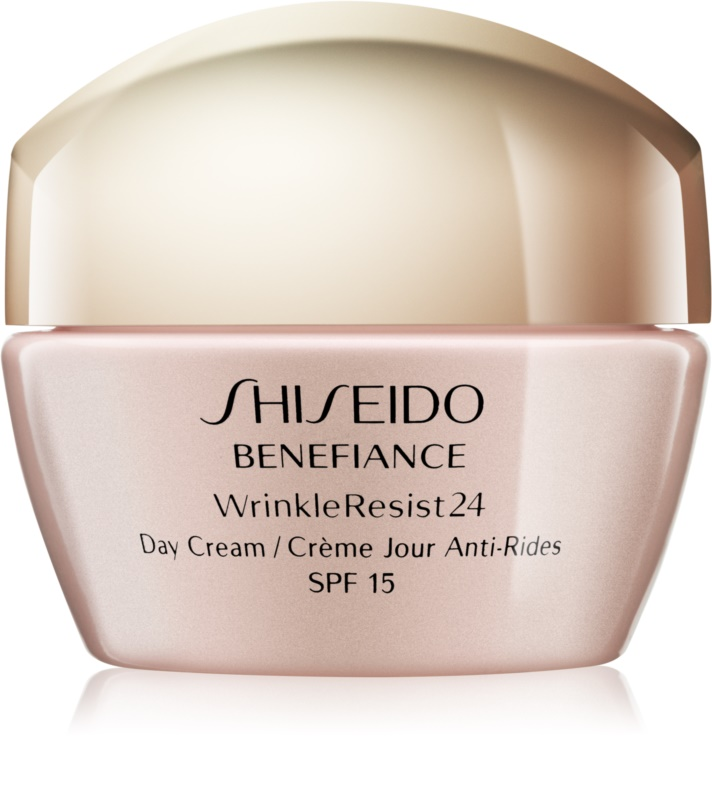 shiseido benefiance wrinkleresist24 tagescreme gegen falten lsf 15. Black Bedroom Furniture Sets. Home Design Ideas