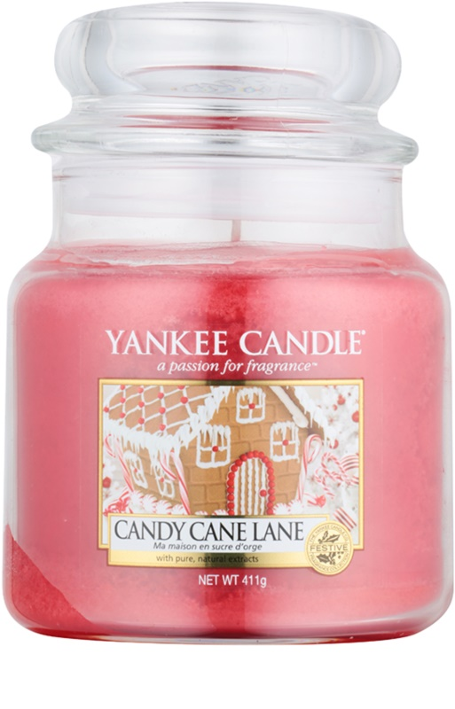 Yankee Candle Candy Cane Lane Scented Candle 411 G Classic Medium