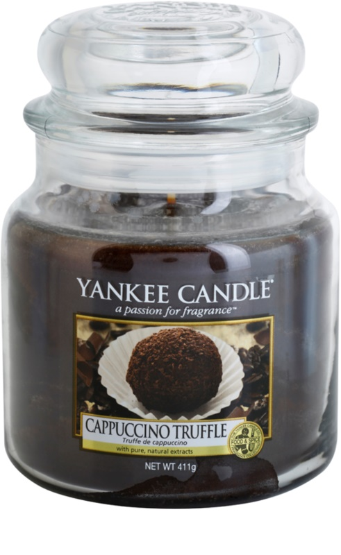 yankee candle cappuccino truffle bougie parfum e 411 g. Black Bedroom Furniture Sets. Home Design Ideas