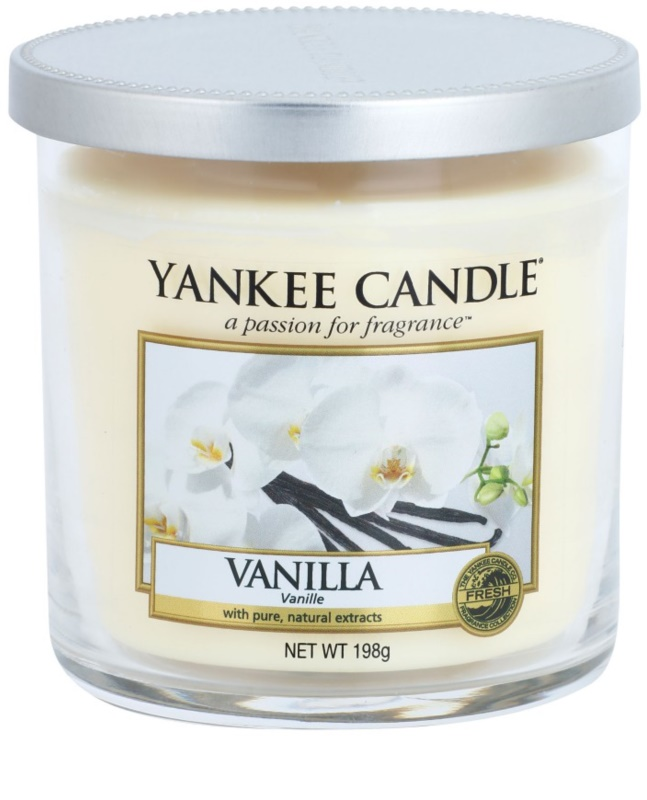 yankee candle vanilla bougie parfum e 198 g d cor petite. Black Bedroom Furniture Sets. Home Design Ideas