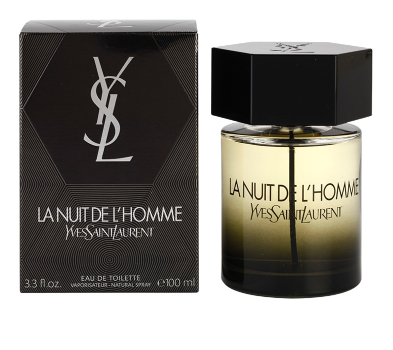 yves saint laurent la nuit de l 39 homme eau de toilette pour homme 100 ml. Black Bedroom Furniture Sets. Home Design Ideas